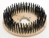 Flat wire steel brush