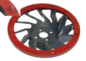 PCD cup-wheel sharp DFT-175-S, red