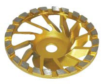 Diamond grinding cup wheel DT-175-VAC gold